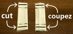 coupez l'excès de tissus