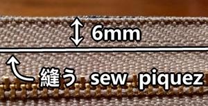 piquez 6mm du bord