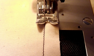 sew a seam allowance of 1cm
