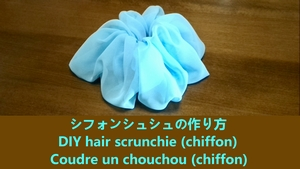 hair scrunchie (chiffon)