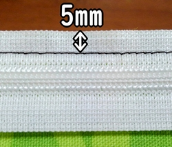 sew 5mm from the edge